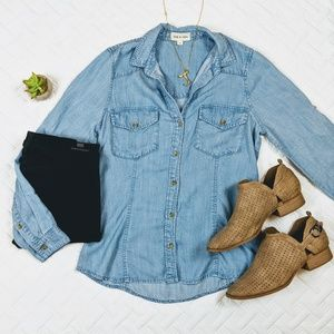 $98 Cloth & Stone Chambray Top